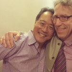 Eliot with Yo Yo Ma at Symphony Hall, Boston Oct. 3 2013