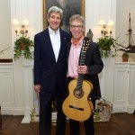 """Secretary of State John Kerry and Eliot Fisk"""